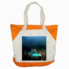 Kelimutu Crater Lakes  Indonesia Accent Tote Bag by Nexatart