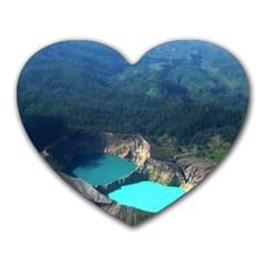 Kelimutu Crater Lakes  Indonesia Heart Mousepads
