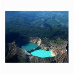 Kelimutu Crater Lakes  Indonesia Small Glasses Cloth (2 Side) by Nexatart