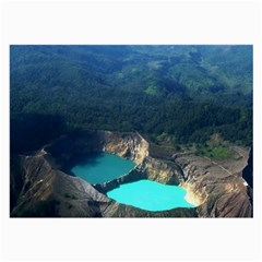 Kelimutu Crater Lakes  Indonesia Large Glasses Cloth by Nexatart