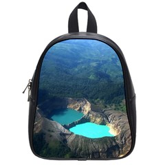 Kelimutu Crater Lakes  Indonesia School Bag (small) by Nexatart
