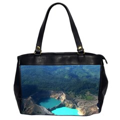 Kelimutu Crater Lakes  Indonesia Office Handbags (2 Sides)  by Nexatart