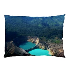 Kelimutu Crater Lakes  Indonesia Pillow Case (two Sides)