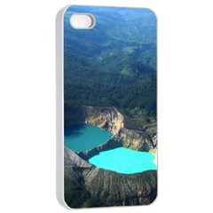 Kelimutu Crater Lakes  Indonesia Apple Iphone 4/4s Seamless Case (white)