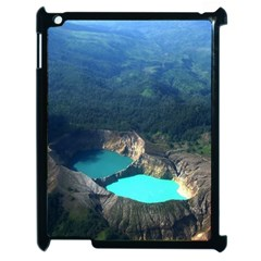 Kelimutu Crater Lakes  Indonesia Apple Ipad 2 Case (black) by Nexatart