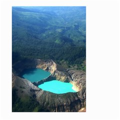 Kelimutu Crater Lakes  Indonesia Large Garden Flag (two Sides) by Nexatart