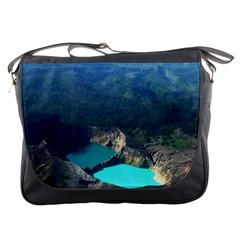 Kelimutu Crater Lakes  Indonesia Messenger Bags