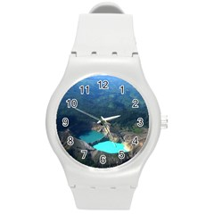 Kelimutu Crater Lakes  Indonesia Round Plastic Sport Watch (m) by Nexatart