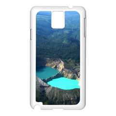 Kelimutu Crater Lakes  Indonesia Samsung Galaxy Note 3 N9005 Case (white)