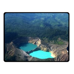 Kelimutu Crater Lakes  Indonesia Double Sided Fleece Blanket (small)