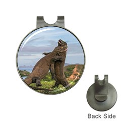 Komodo Dragons Fight Hat Clips With Golf Markers by Nexatart