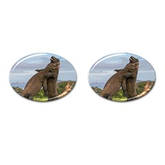 Komodo Dragons Fight Cufflinks (oval)