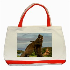Komodo Dragons Fight Classic Tote Bag (red) by Nexatart