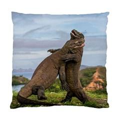Komodo Dragons Fight Standard Cushion Case (one Side) by Nexatart