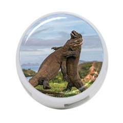 Komodo Dragons Fight 4 Port Usb Hub (one Side) by Nexatart