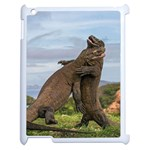 Komodo Dragons Fight Apple iPad 2 Case (White) Front