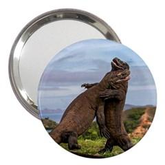 Komodo Dragons Fight 3  Handbag Mirrors