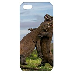 Komodo Dragons Fight Apple Iphone 5 Hardshell Case by Nexatart