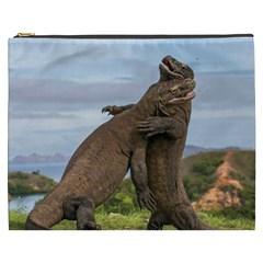 Komodo Dragons Fight Cosmetic Bag (xxxl)  by Nexatart