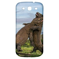 Komodo Dragons Fight Samsung Galaxy S3 S Iii Classic Hardshell Back Case by Nexatart