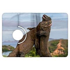 Komodo Dragons Fight Kindle Fire Hdx Flip 360 Case by Nexatart