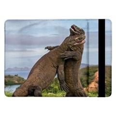 Komodo Dragons Fight Samsung Galaxy Tab Pro 12 2  Flip Case