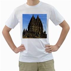 Prambanan Temple Men s T Shirt (white) (two Sided)