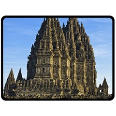 Prambanan Temple Fleece Blanket (large)