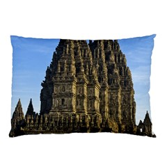 Prambanan Temple Pillow Case (two Sides) by Nexatart