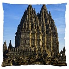 Prambanan Temple Large Cushion Case (one Side)