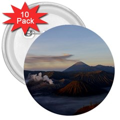 Sunrise Mount Bromo Tengger Semeru National Park  Indonesia 3  Buttons (10 Pack)