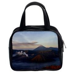 Sunrise Mount Bromo Tengger Semeru National Park  Indonesia Classic Handbags (2 Sides) by Nexatart