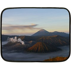 Sunrise Mount Bromo Tengger Semeru National Park  Indonesia Fleece Blanket (mini)