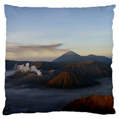 Sunrise Mount Bromo Tengger Semeru National Park  Indonesia Large Flano Cushion Case (one Side)