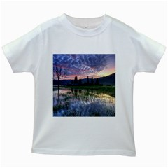 Tamblingan Morning Reflection Tamblingan Lake Bali  Indonesia Kids White T Shirts by Nexatart