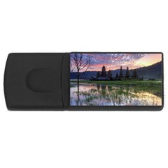 Tamblingan Morning Reflection Tamblingan Lake Bali  Indonesia Rectangular Usb Flash Drive