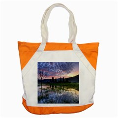 Tamblingan Morning Reflection Tamblingan Lake Bali  Indonesia Accent Tote Bag by Nexatart