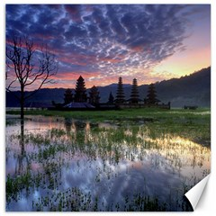 Tamblingan Morning Reflection Tamblingan Lake Bali  Indonesia Canvas 20  X 20