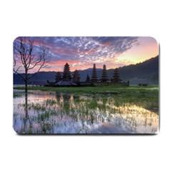 Tamblingan Morning Reflection Tamblingan Lake Bali  Indonesia Small Doormat