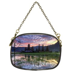 Tamblingan Morning Reflection Tamblingan Lake Bali  Indonesia Chain Purses (two Sides)