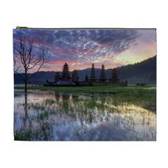 Tamblingan Morning Reflection Tamblingan Lake Bali  Indonesia Cosmetic Bag (xl) by Nexatart