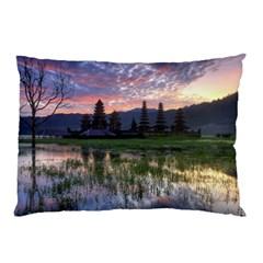 Tamblingan Morning Reflection Tamblingan Lake Bali  Indonesia Pillow Case (two Sides)