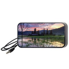Tamblingan Morning Reflection Tamblingan Lake Bali  Indonesia Portable Speaker (black)