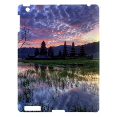 Tamblingan Morning Reflection Tamblingan Lake Bali  Indonesia Apple Ipad 3/4 Hardshell Case by Nexatart
