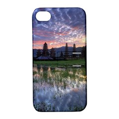 Tamblingan Morning Reflection Tamblingan Lake Bali  Indonesia Apple Iphone 4/4s Hardshell Case With Stand by Nexatart