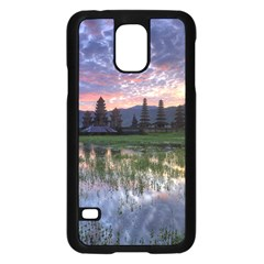 Tamblingan Morning Reflection Tamblingan Lake Bali  Indonesia Samsung Galaxy S5 Case (black)