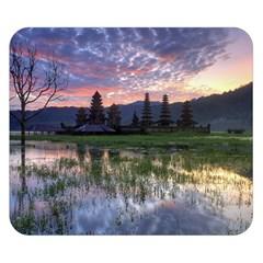 Tamblingan Morning Reflection Tamblingan Lake Bali  Indonesia Double Sided Flano Blanket (small)