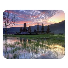 Tamblingan Morning Reflection Tamblingan Lake Bali  Indonesia Double Sided Flano Blanket (large)  by Nexatart