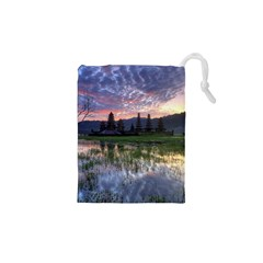 Tamblingan Morning Reflection Tamblingan Lake Bali  Indonesia Drawstring Pouches (xs)