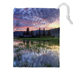 Tamblingan Morning Reflection Tamblingan Lake Bali  Indonesia Drawstring Pouches (xxl)